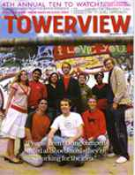 Shoeboxed on the cover of Towerview magazine