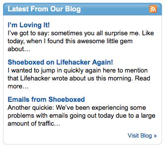 Shoeboxed Blog Feed