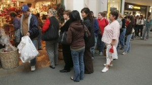 Long lines as people try to return gifts