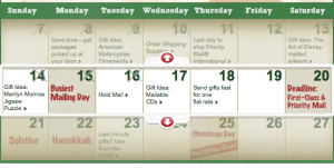 USPS Christmas Schedule and Deadlines