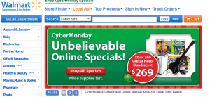 Walmart is one retailer with Cyber Monday advertising