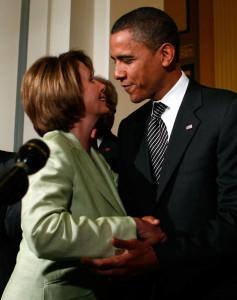 Speaker of the House Nancy Pelosi and President-Elect Barack Obama