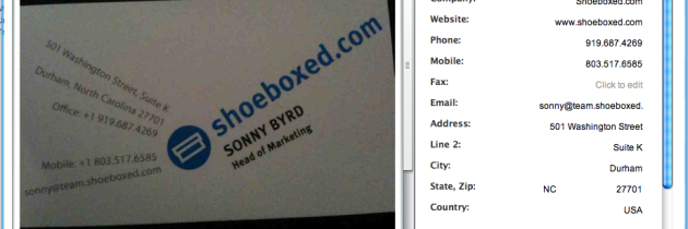 New Tools for Viewing, Editing and Sharing Your Business Cards