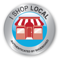 Shoeboxed Shop Local Badge