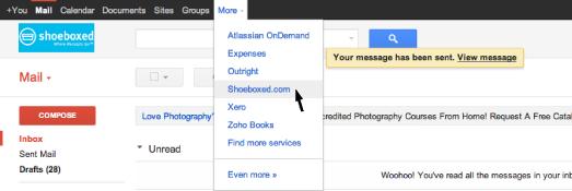Shoeboxed Google Apps Login