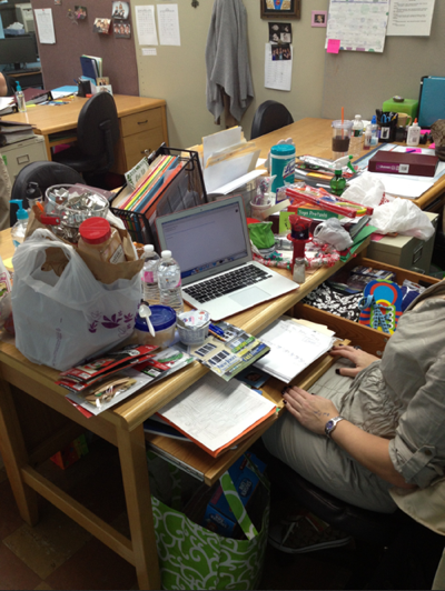 Shoeboxed Messy Desk Contest Lauren Martini