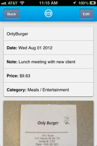 shoeboxed receipt tracker app for iphone