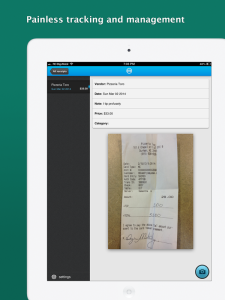 Shoeboxed Receipt Tracker for iPad
