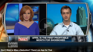 Shoeboxed on Fox Business