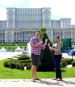 Anjana in Bucharest with our CEO Taylor.