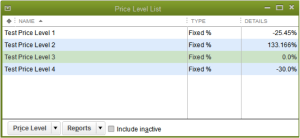 Create Different Price Levels to Ease Inventory Management