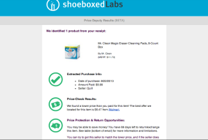 Save money with Shoeboxed Price Deputy!