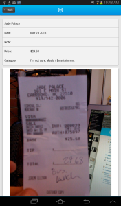 android receipt