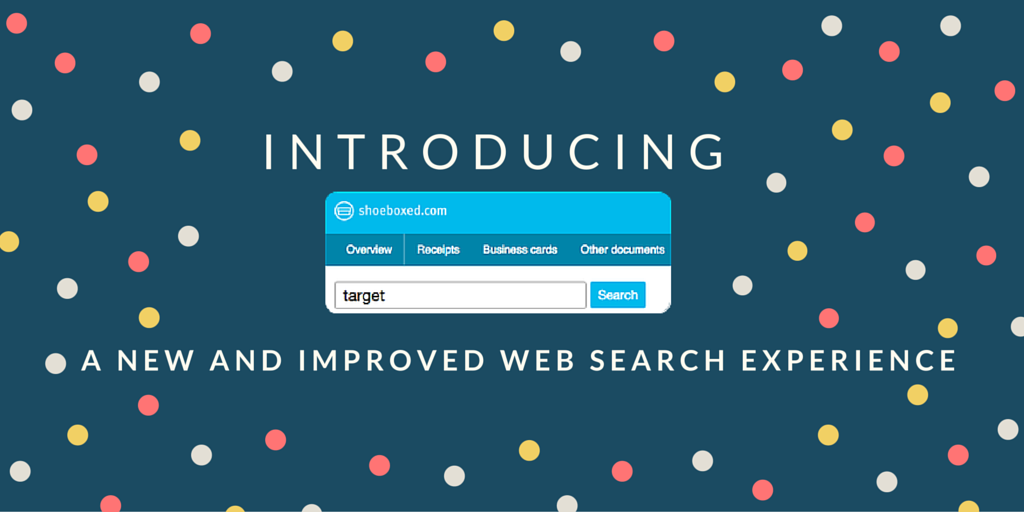 The New & Improved Shoeboxed Search is Here!