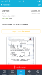 Use Shoeboxed to track receipts on-the-go as you travel on business trips, like Hotel stay receipts