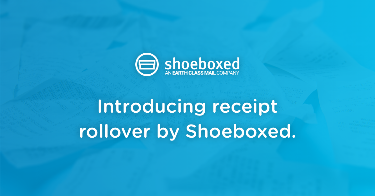 Digitize Receipts on YOUR Schedule With Receipt Rollover by Shoeboxed
